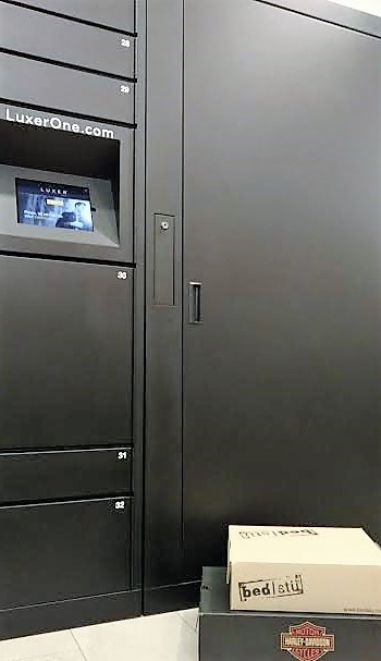 The Luxer Lockers at The Lofts of Merchants Row.