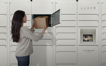 Luxer One Lockers In Use